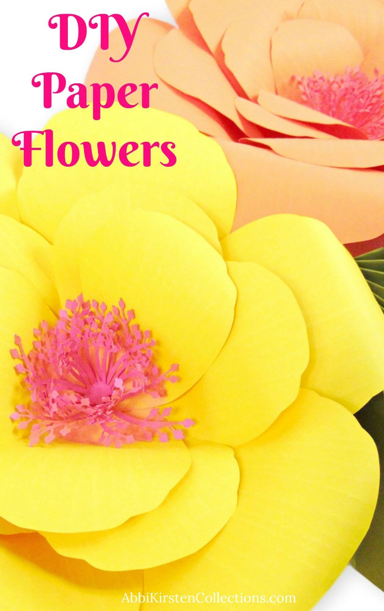 Giant Paper Flower Tutorials Diy Large Hibiscus Flowers Abbi