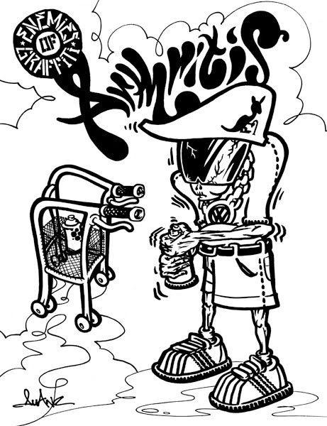 graffiti arthitis coloring bookship hopgraffiti - Hip Hop Coloring Book