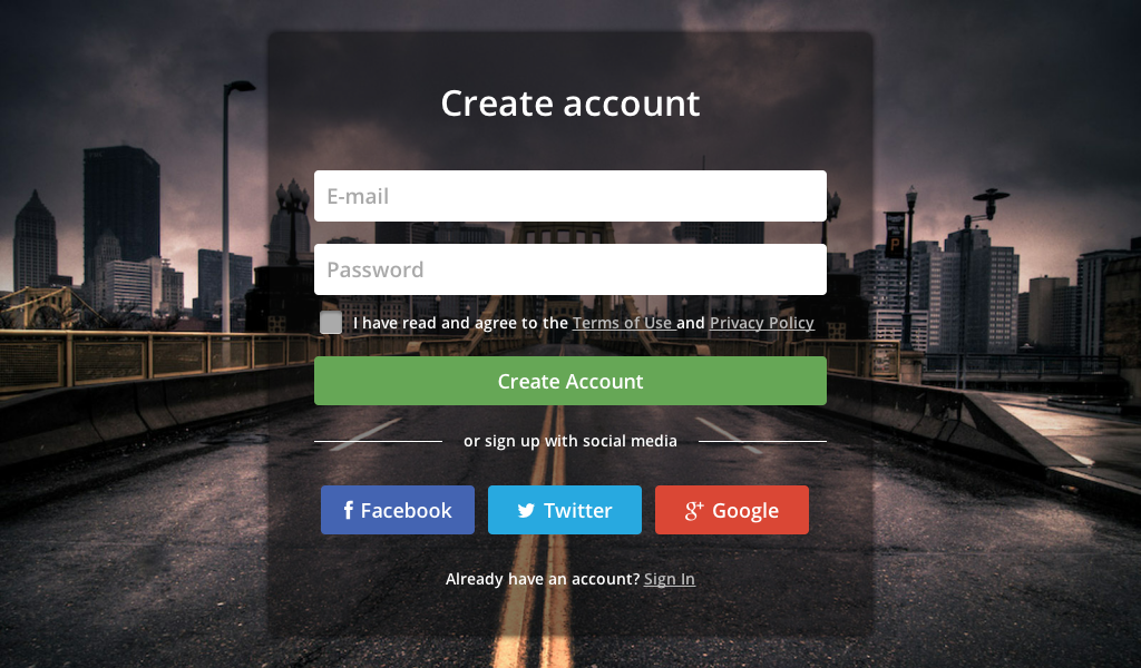 Login Page With Blur Background Blur Buttons