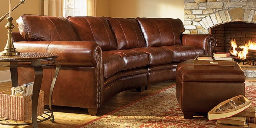 Image result for curved brown leather couch | Brier Studio ...