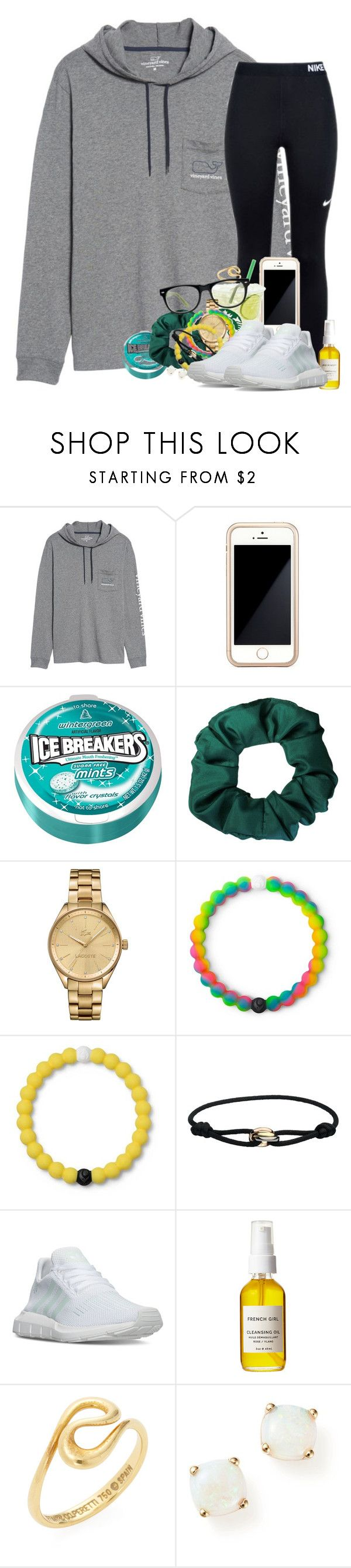 """"""""""" by southernstruttin ❤ liked on Polyvore featuring Vineyard Vines, NIKE, Squair, Lacoste, Lokai, Cartier, adidas, French Girl, Tiffany & Co. and Bloomingdale's"""
