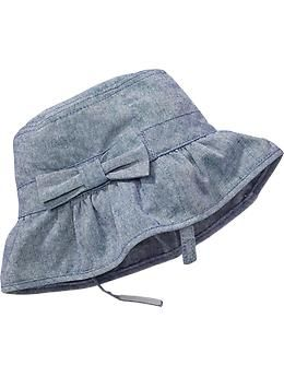 Chambray Sun Hats for Baby  ba2d58493ba