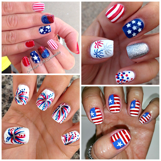 Here are some fun 4th of july nail designs to do for the