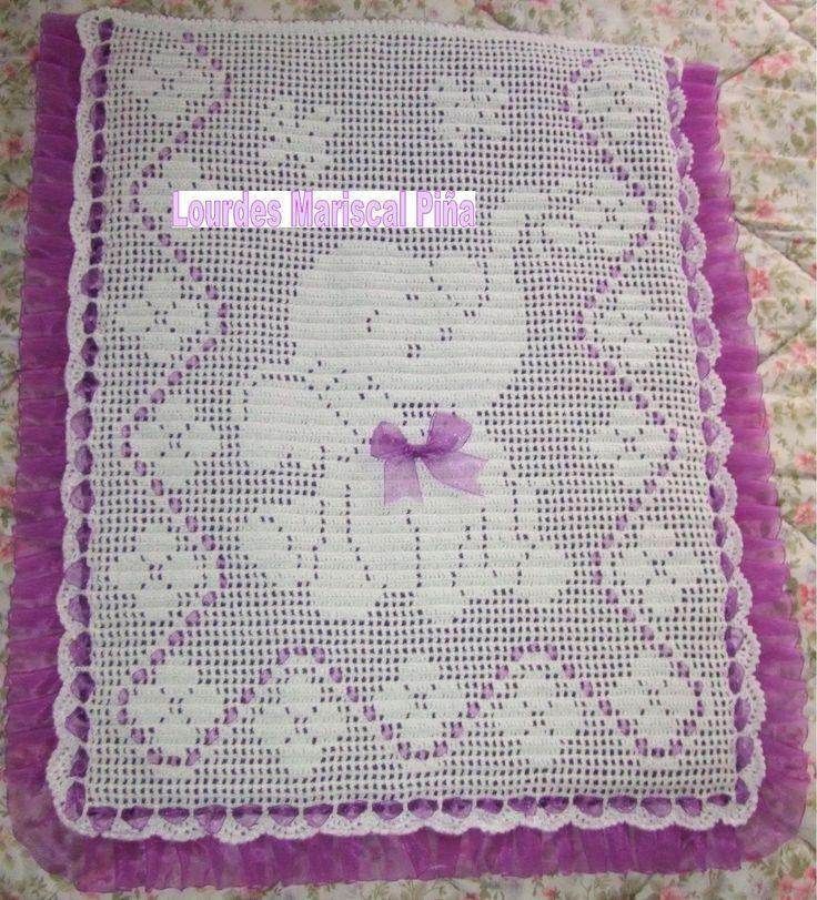 Risultati immagini per colcha cochecito crochet red elefante | Bebe ...