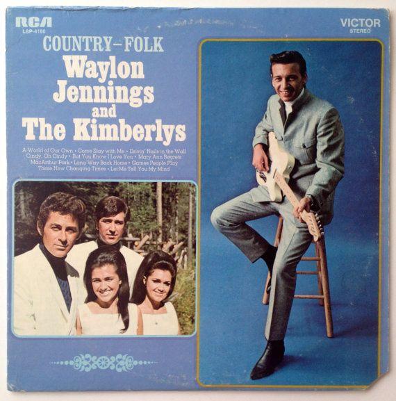 Waylon Jennings and The Kimberlys - Country - Folk LP Vinyl Record Album, RCA Victor - LSP-4180, Folk, Country, 1969