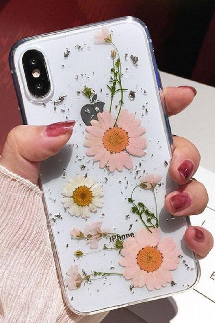 Pink Pressed Flower iPhone 6, 6 Plus, iPhone 7, 7 Plus, iPhone 8, 8 Plus & iPhon...   - Iphone 7 & Iphone 7 plus case -