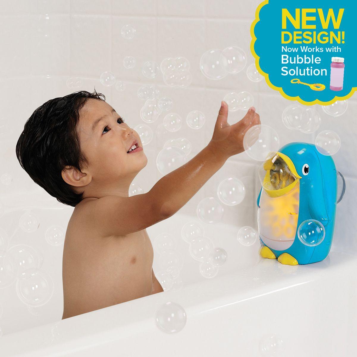 Blue//Yellow//White Munchkin Bath Fun Bubble Blower