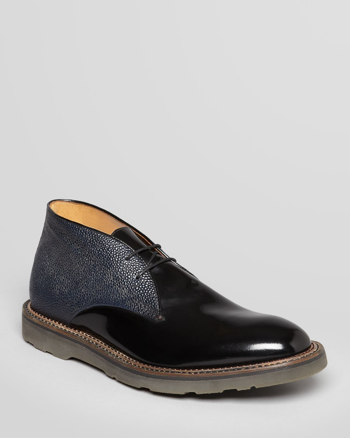 e27d09a836a Paul Smith - Hunter Leather Chukka Boots (Black/Navy) | Shoes I Own ...