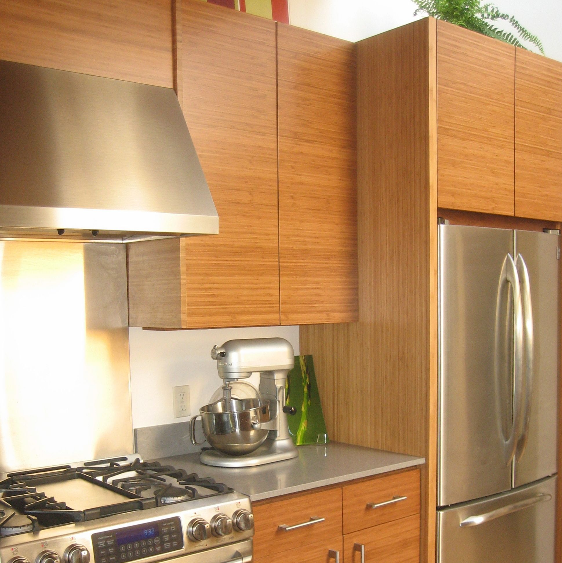 IKEA® kitchen with Semihandmade Bamboo fronts. Kitchen