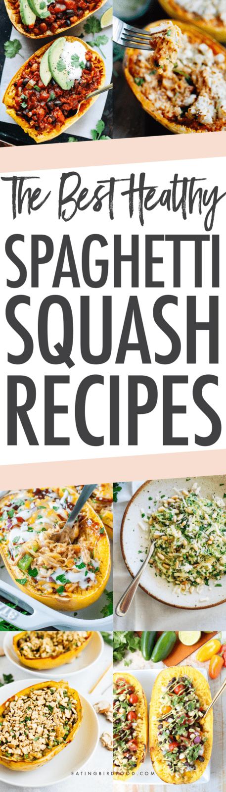 21 Spaghetti Squash Recipes #spagettisquashrecipes