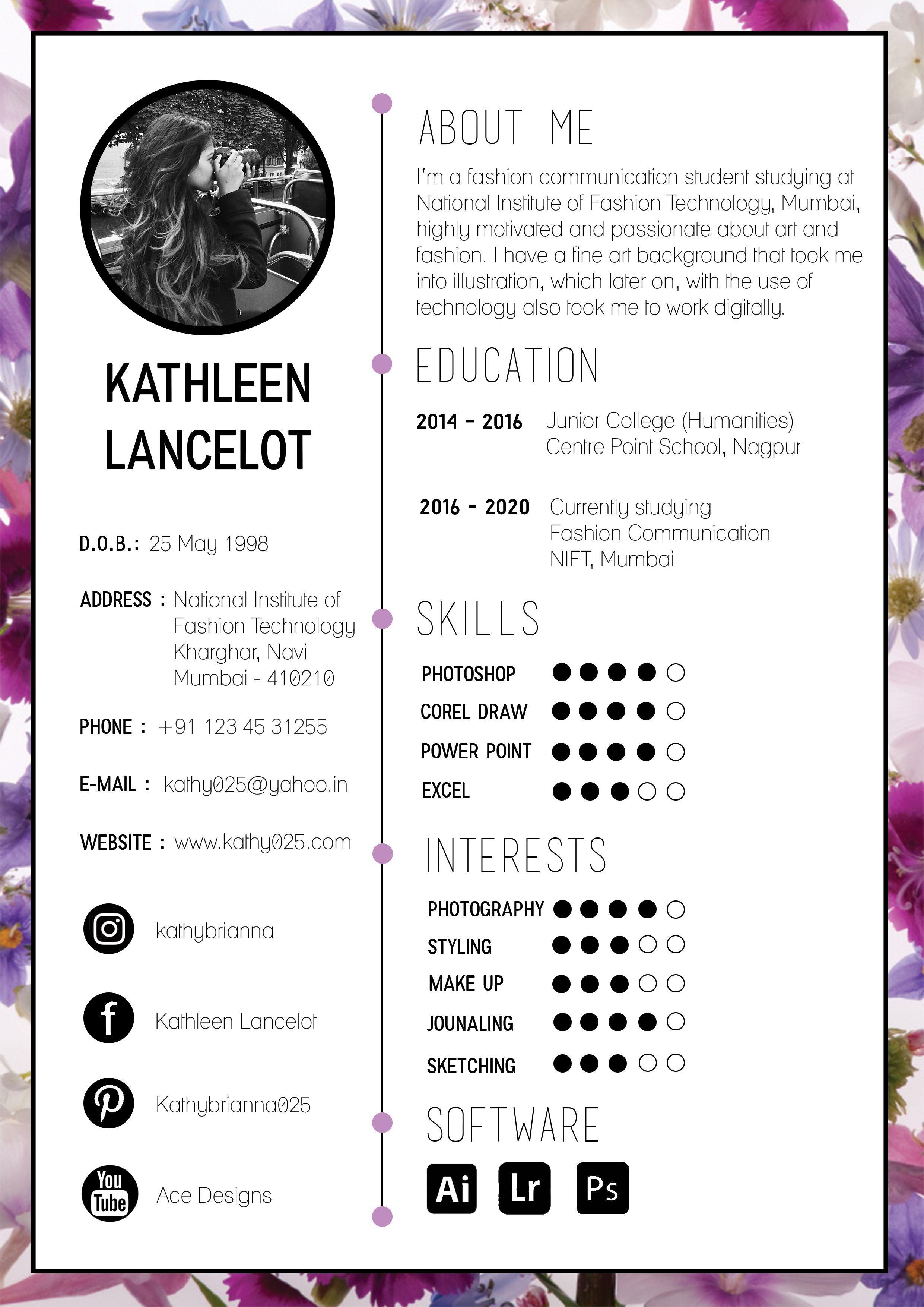 Creative resume for graphic designer Resume Template