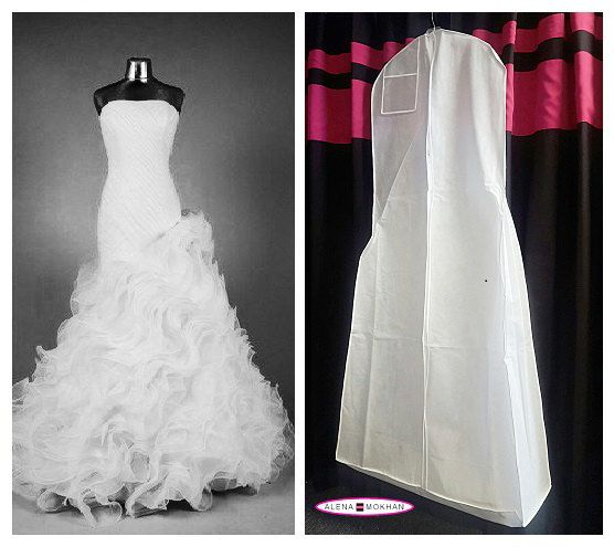 Extra Large White Breathable Wedding Gown Bag Dress Garment Bag with ...