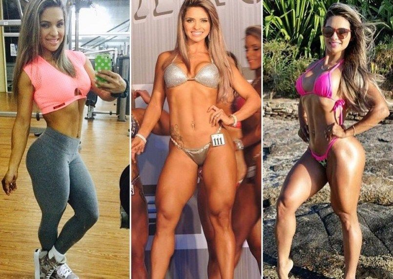 Aline Barreto O Antes E Depois Da Atleta Fitness Com Imagens