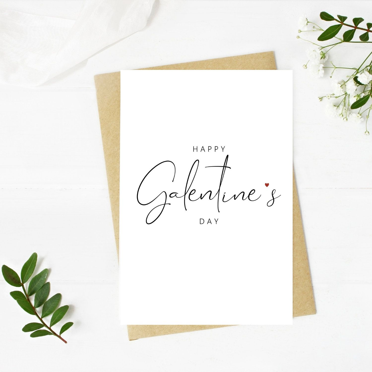 Printable Happy Galentine's Day, Galentine's Day Card