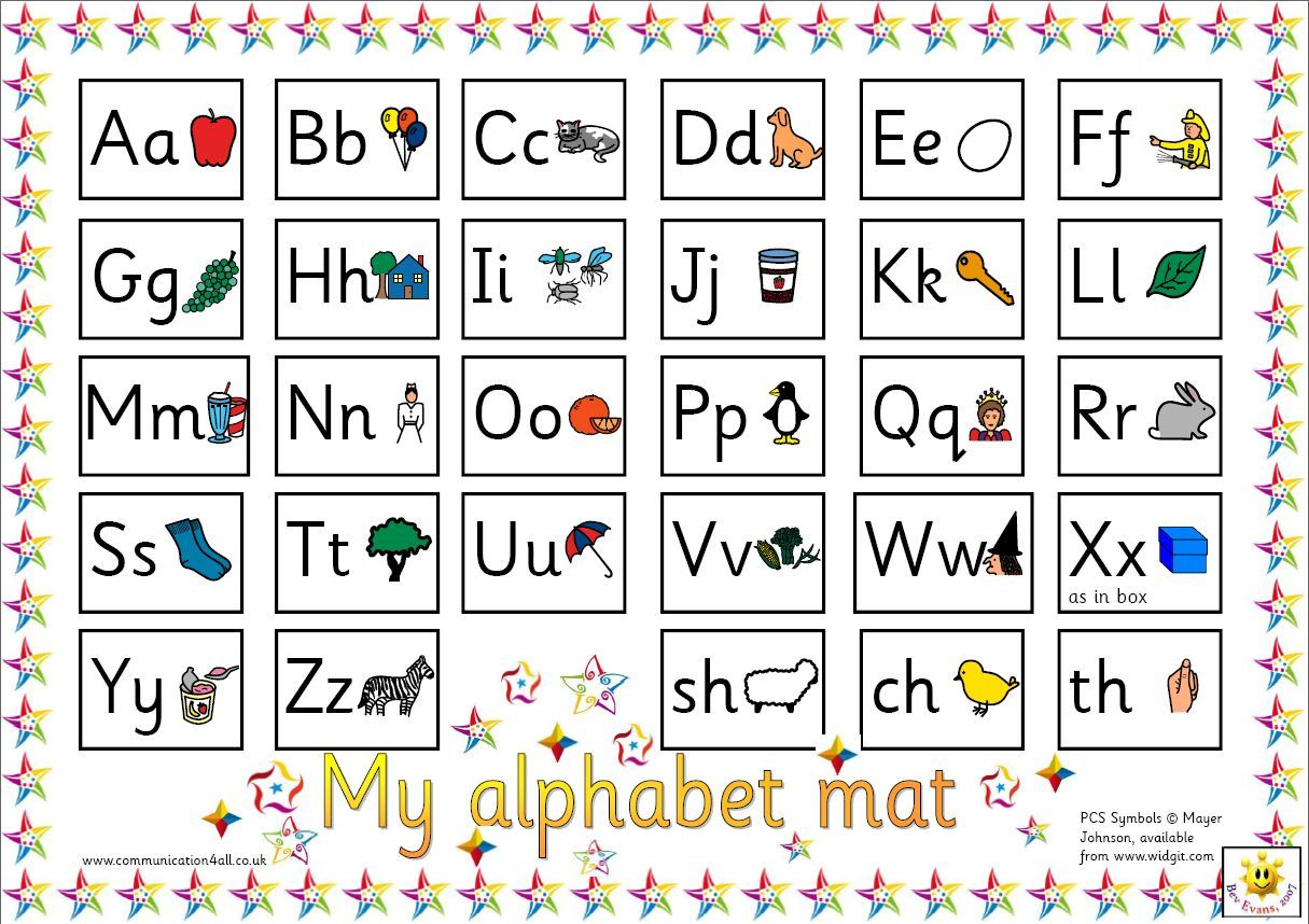 Reversible Alphabet Mat