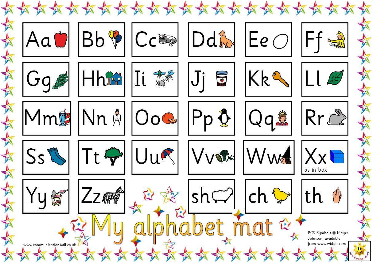 Reversible alphabet mat - Colourful A3 mat with alphabet ...