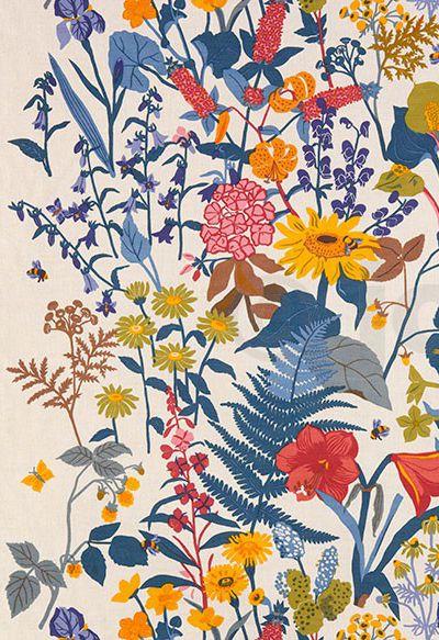 Heal S Jobs Handtryk Flower Background Wallpaper Prints