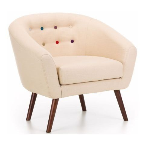 Butley 1 Seater Cream Fabric Sofa With Curved Arm Foam Seats And Wooden Feets At Price Contemporary Company