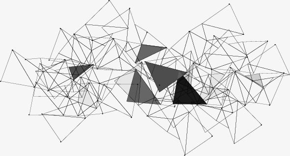 Irregular Graphics Decoration In 2020 Abstract Triangle Pattern