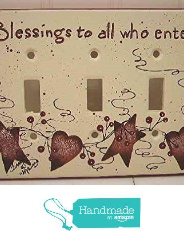 Blessings to all Who Enter Stoneware Switch Plate Cover from Primitive Country Loft House(FREE SHIPPING) https://www.amazon.com/dp/B018HJBW8E/ref=hnd_sw_r_pi_dp_Hh6GxbCYSX3E2 #handmadeatamazon