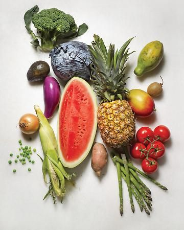 lots of fruits and veggies
