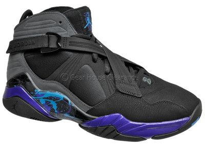 new style b895c 60f64 Nike Air Jordan 8.0 Aqua Mens Basketball Shoes (NEW) Black ...