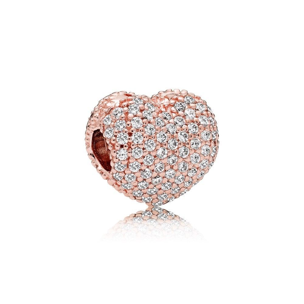 Charms and charm bracelets authentic pandora rose gold clip