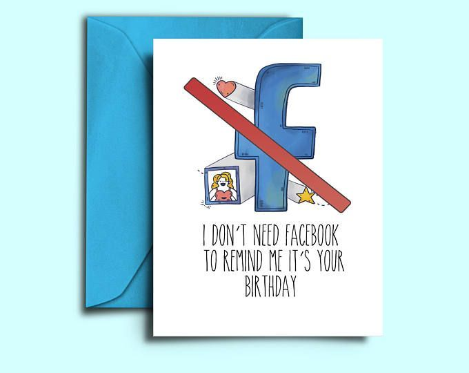 Printable Funny Birthday Card For Best Friend Brother Sister Fiance Daughter Mom BFF