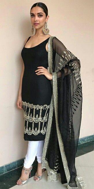 f4b4d5cbf121e Beautiful Deepika in black n white kurti