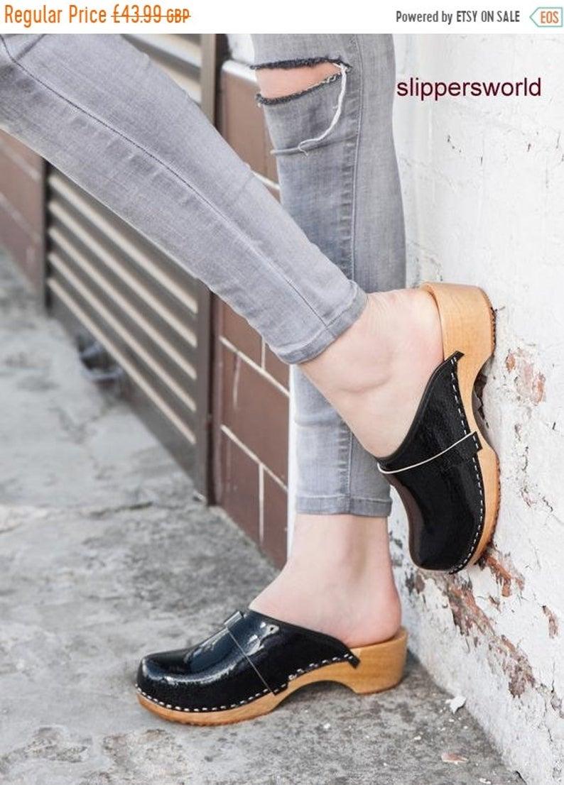 women summer clogs Ladies wooden sole