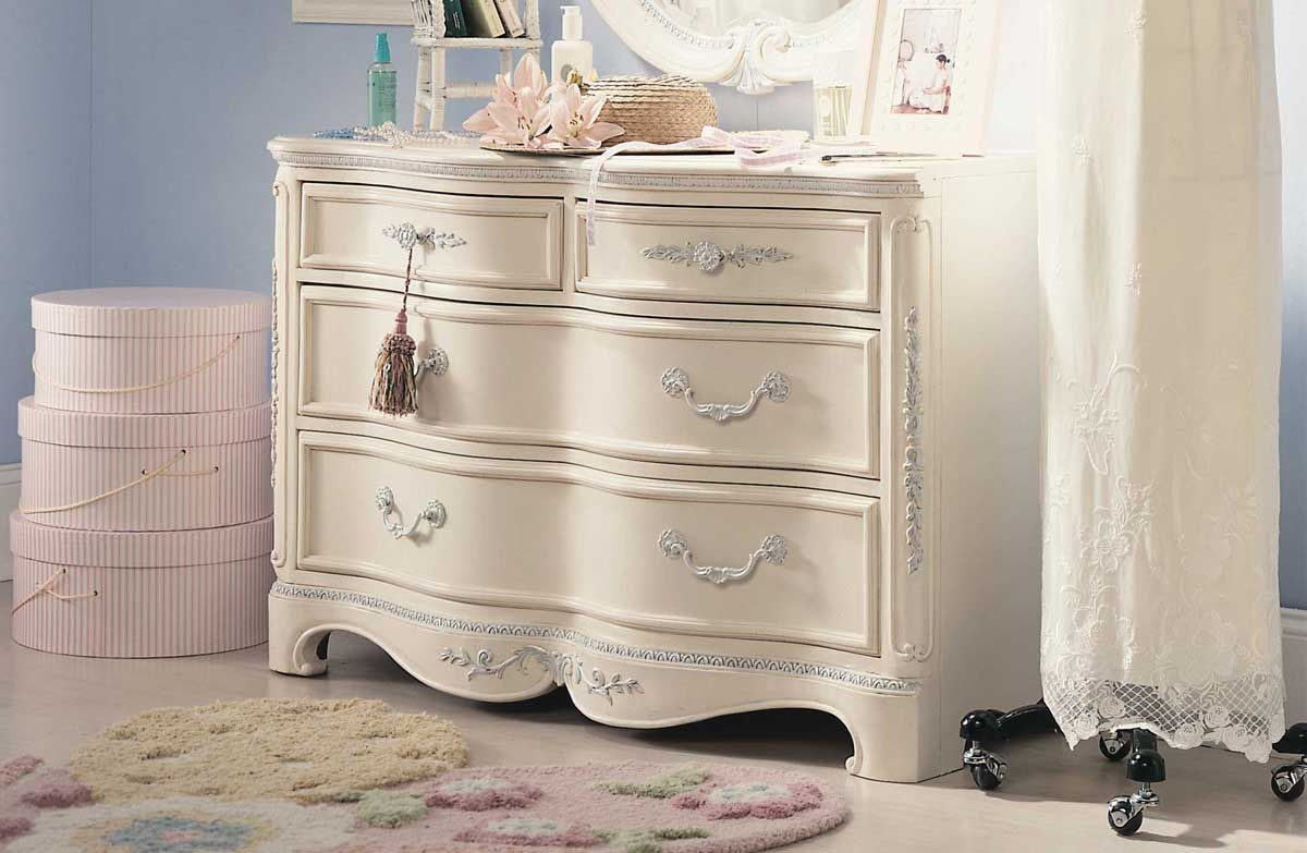Lea Jessica Mcclintock Romance 4 Drawer Dresser Furniture White