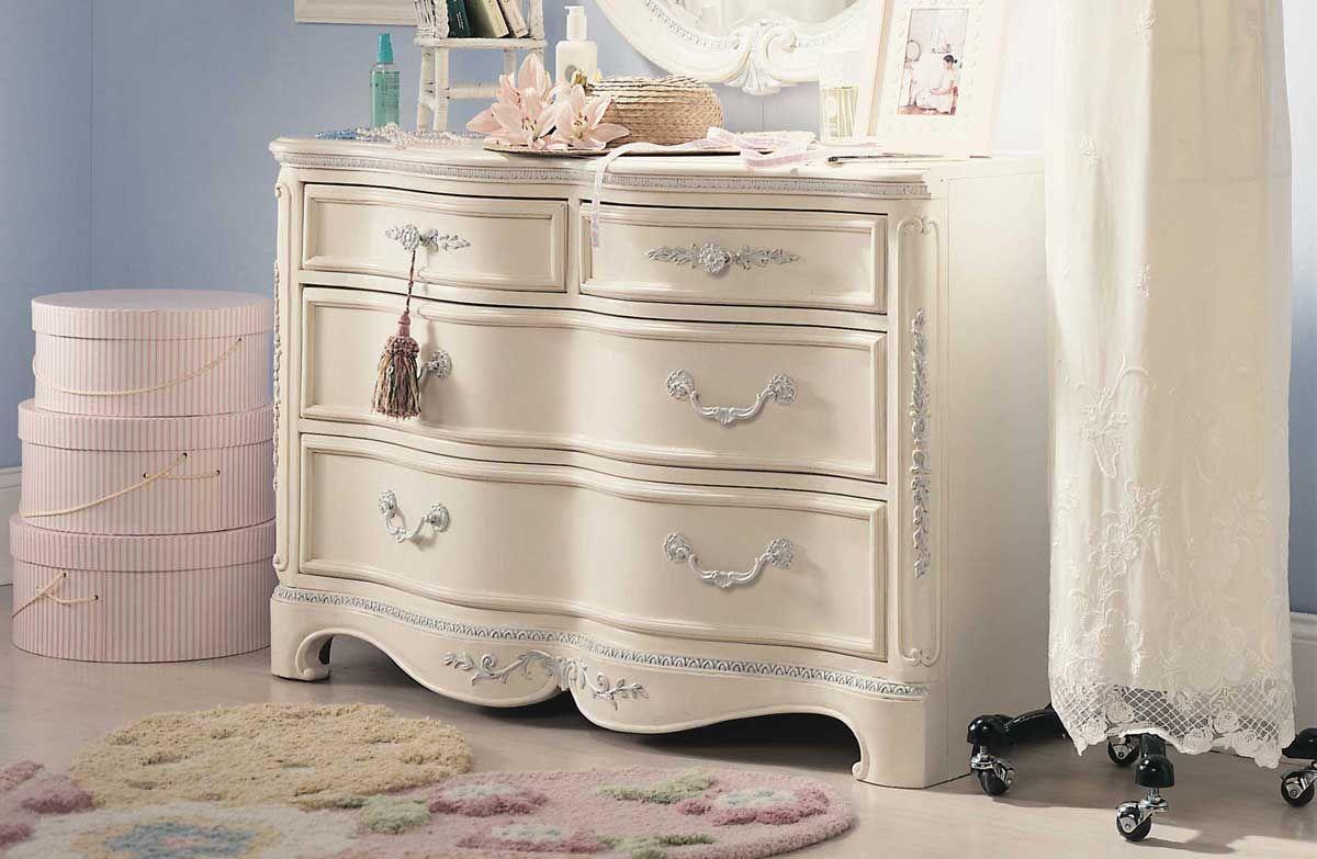 Lea Jessica Mcclintock Romance 4 Drawer Dresser Furniture White