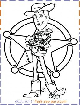 #ToyStory4 Coloring Pages #Woody from Toy Story 4 for kids ...