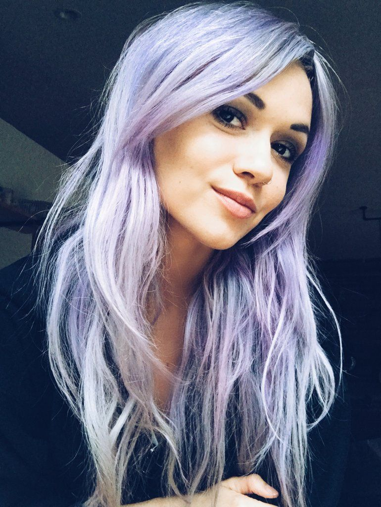 How I Dye My Hair Pastel Light Purple Hair Holographic Hair