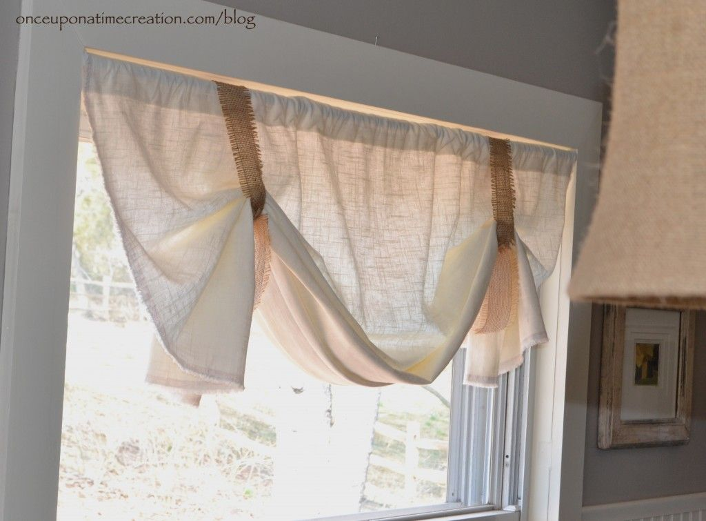 """Welcome to Window Wednesday! We have been in our """"new"""" house for over two years and our windows are still bare. Please join me for a window treatment journey as I attempt to frugally cover them all:) Adding a valance is probably the easiest, fastest, and least expensive way to dress up a window. This …"""