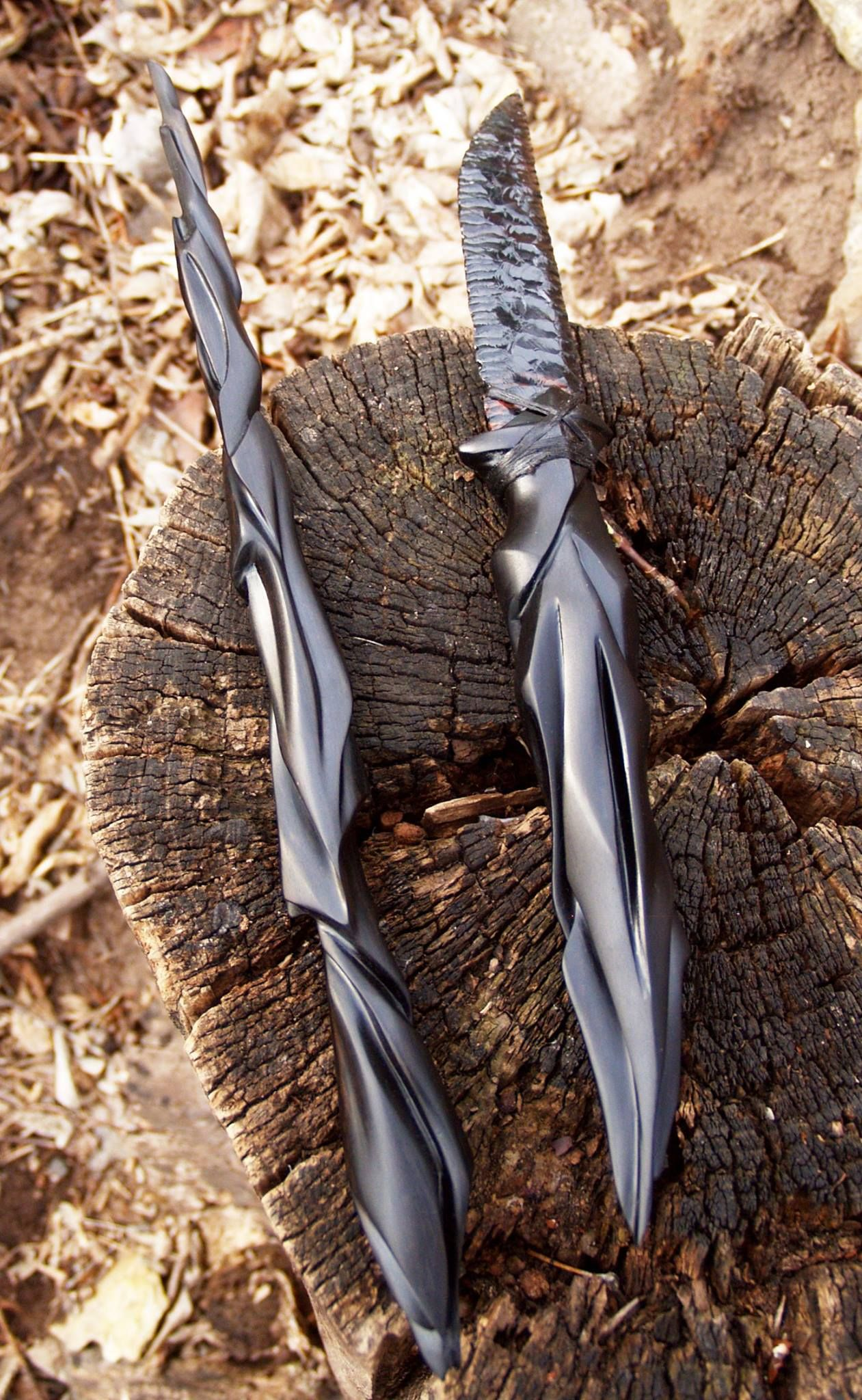 commission ebony wand knife strangeblood wood sculpture rh pinterest com