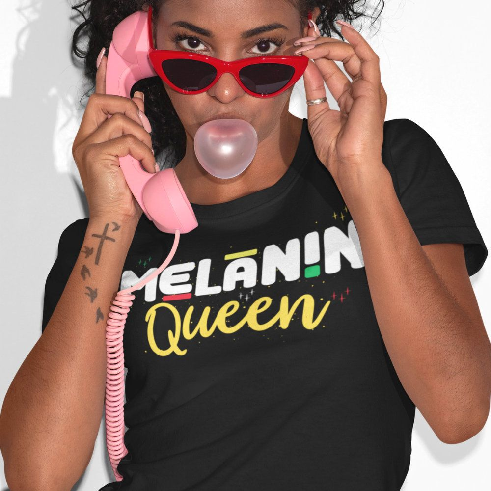 Melanin Poppin Shirts Melanin Queen Women S Favorite Tee Melanin Poppin Melanin Melaninpoppin Africanamerican African Melanin Queen Favorite Tee Melanin