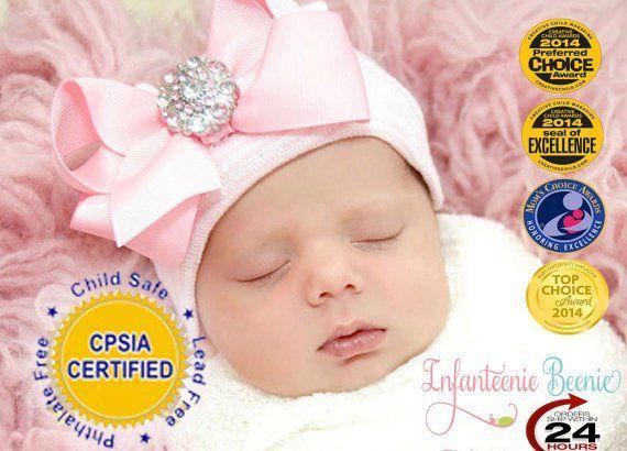 5e4a7e6c3 Newborn Hat .. Hospital Hat .. Baby Girl Hat .. Baby Hospital Hat ...