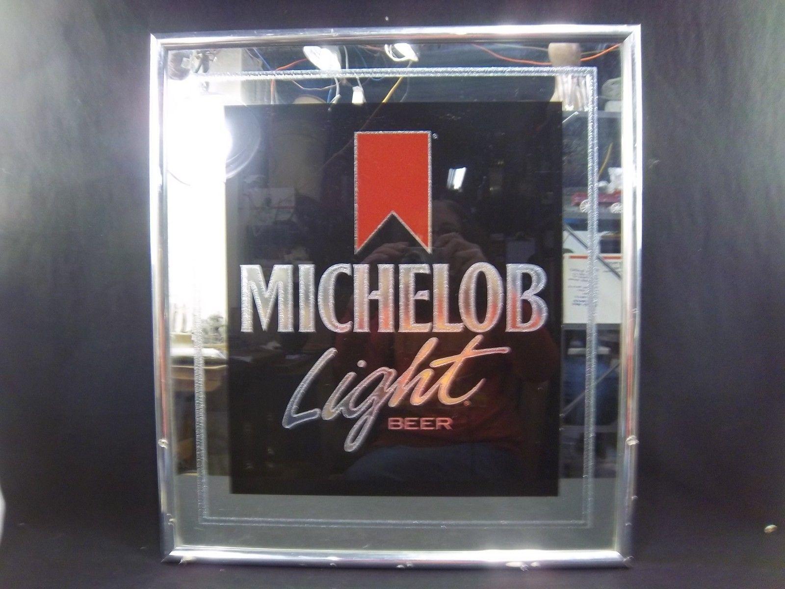 Michelob Light Anheuser Busch Beer Glass Sign Mirror 53x25\