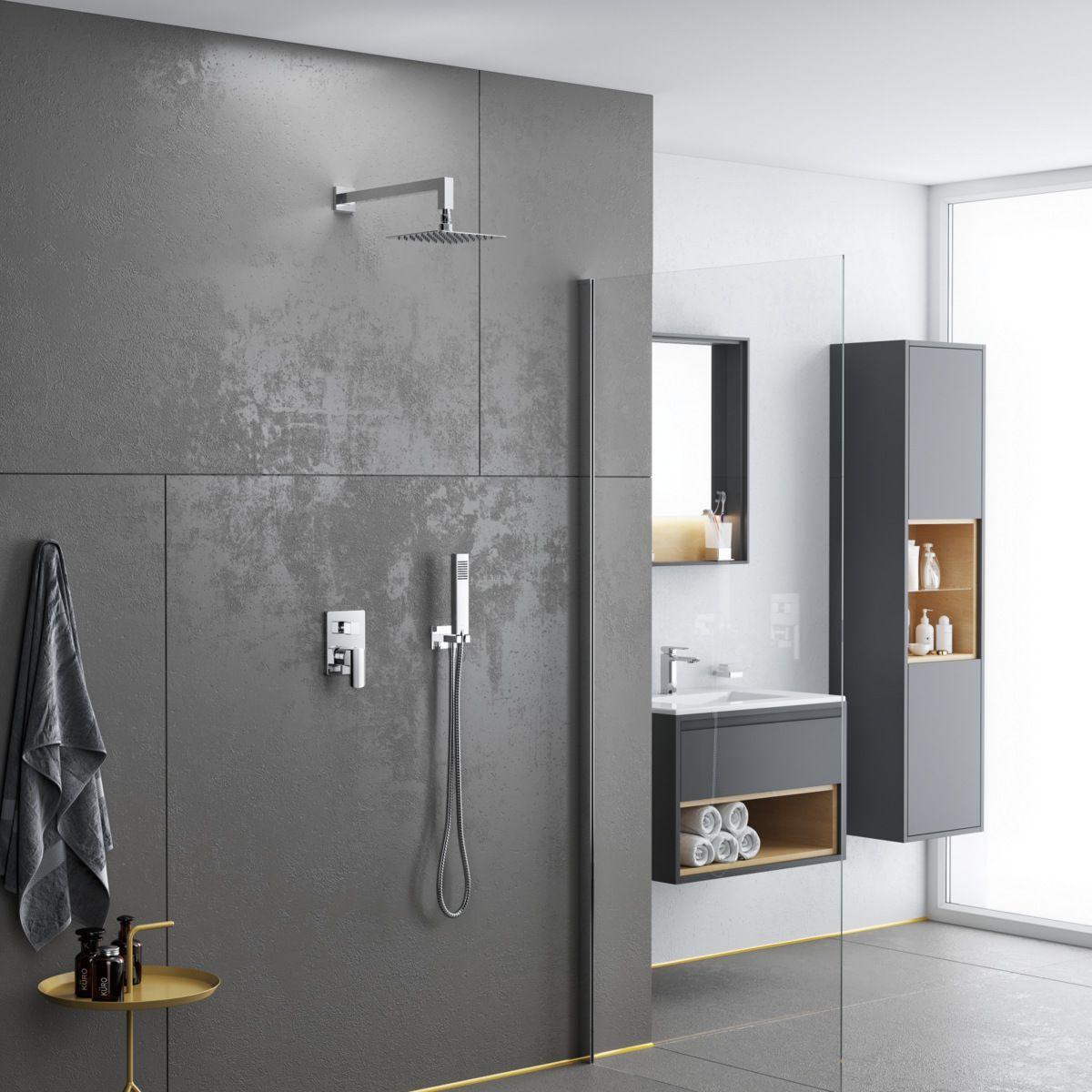 Elegancki Funkcjonalny Zestaw Prysznicowo Wannowy Podtynkowy Pride Bathroom Interior Lighted Bathroom Mirror Bathroom Mirror