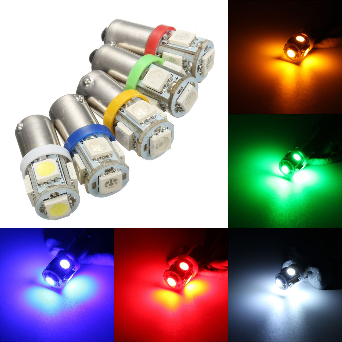 Car 12v 5 Smd Led Ba9s T4w W5w T10 Indicator Light Bulb Lamp 5 Color Car Lights From Automobiles Motorcycles On Banggood Com Light Bulb Lamp Indicator Lights Light Bulb