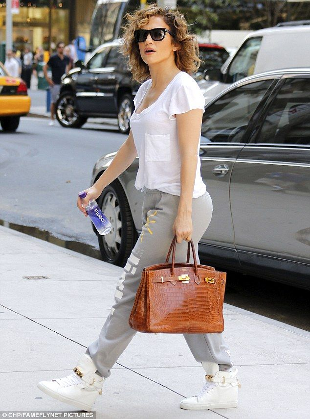 bb816d081b17 Casual trendsetter  Jennifer Lopez looked hip in a relaxed ensemble as she  stepped out in New York City on Friday
