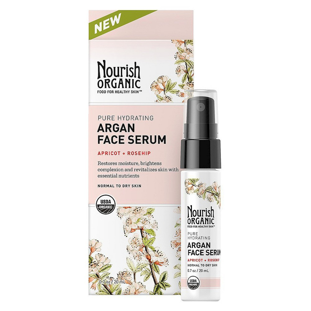 Nourish Organic Argan Face Serum 0.7 Oz