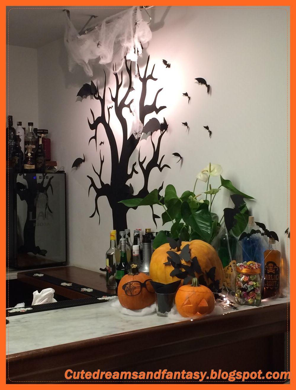 Decoración de Halloween para el restaurante La Bicoca