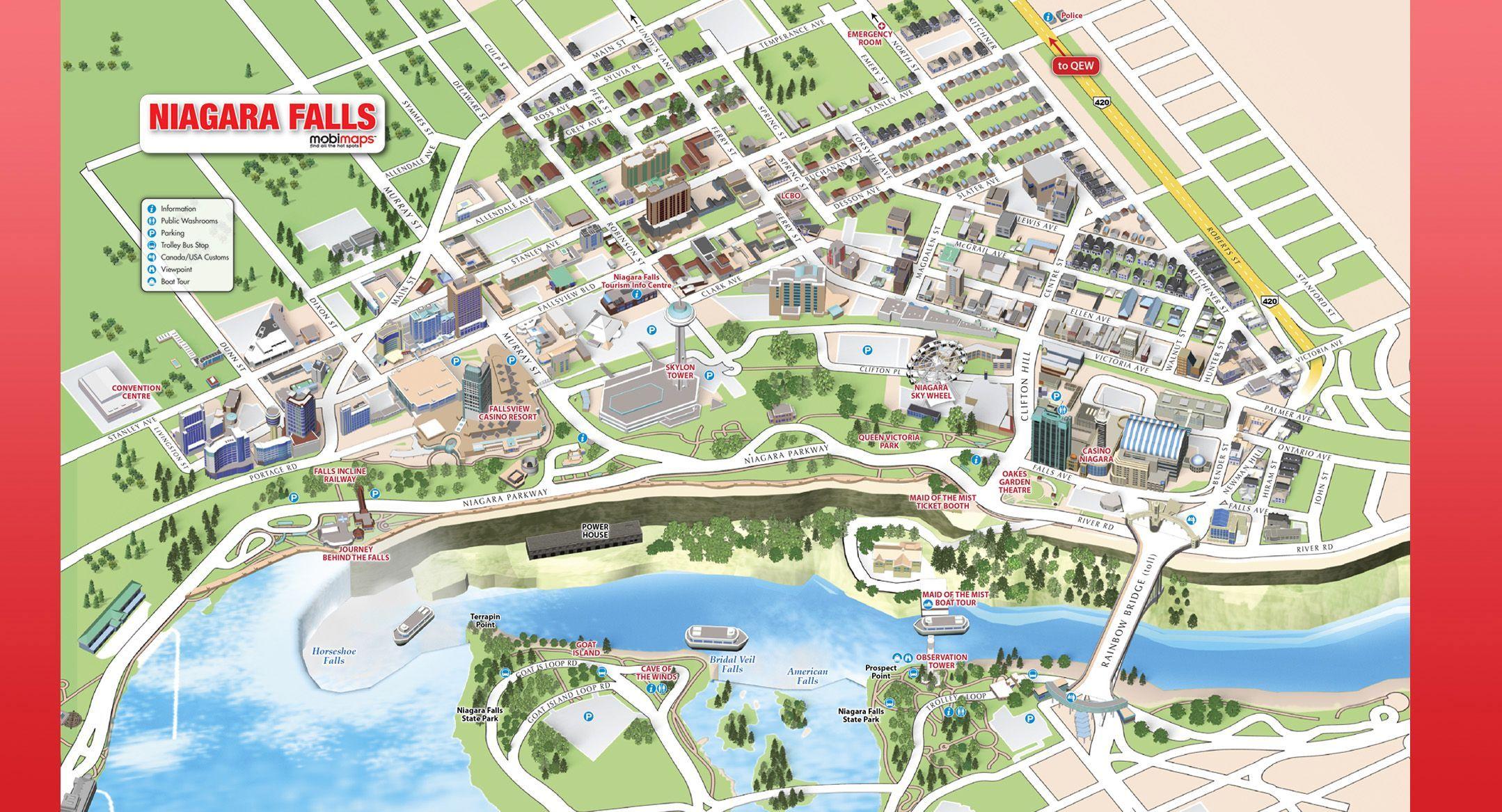 Niagara Falls Canada Map Pdf Pin by Mary Saggau on niagra falls | Niagara falls map, Niagara
