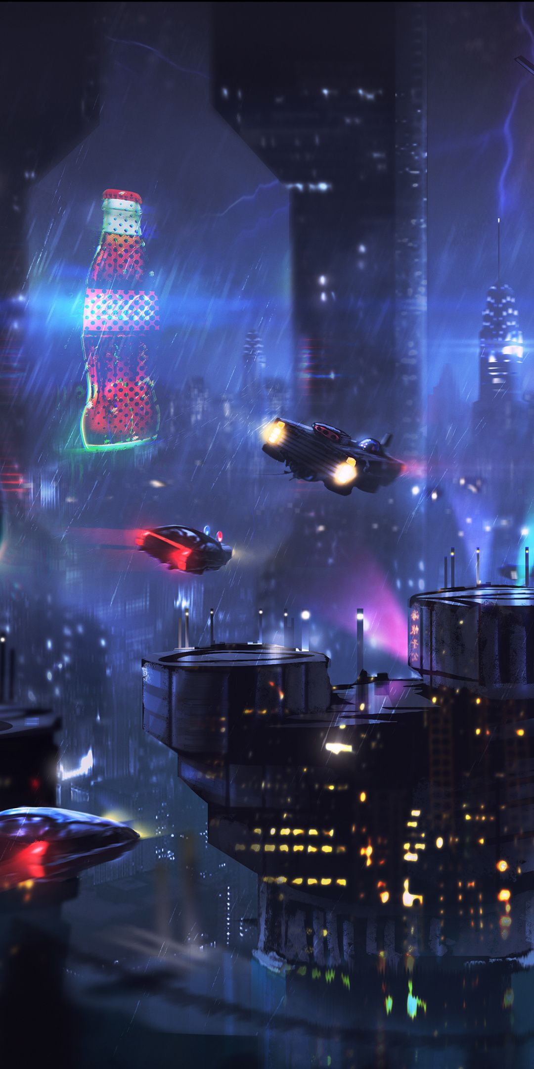 Cyberpunk Dark Cityscape Buildings Art 1080x2160 Wallpaper Cyberpunk City Futuristic City Cyberpunk Aesthetic