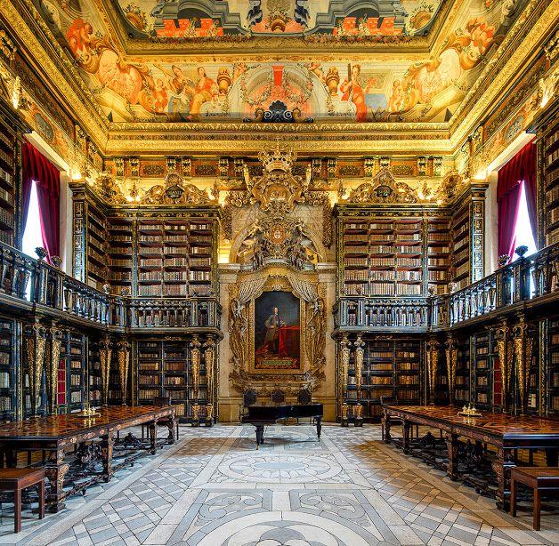 Bibliothèque Joanina - Université de Coimbra - Portugal - Environ