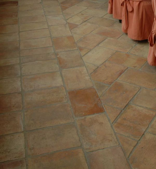 Rustic Terracotta Floor Tiles Antique Parefeuille Terracotta Was