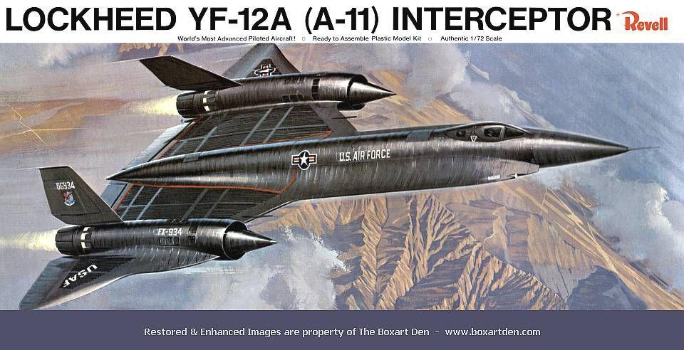 Revell YF-12A, 1966: classic box-art.