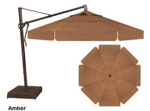 Treasure Garden 13 Cantilever Umbrella In Amber Outdoor Umbrellas Patio Shade Garden Patio Umbrella Patio Umbrellas Cantilever Umbrella